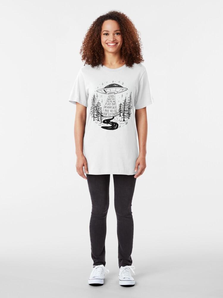 Alternate view of Frank Ocean Self Control hayillustrate Slim Fit T-Shirt