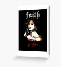 Faith The Vampire Slayer Greeting Card