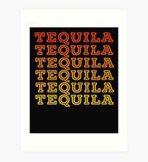 Tequila Retro Design Art Print