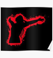 Feel free joy red and black silhouette Poster