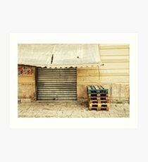 Closed Italian bar Art Print