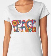 Psychedelic Peace Women's Premium T-Shirt