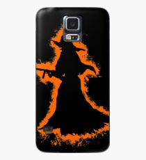 Evil halloween orange and black silhouette Case/Skin for Samsung Galaxy