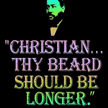 Christian Thy Beard Should Be Longer Charles Spurgeon Quote Rainbow Colors | Spurgeon Gear by royaldiscovery
