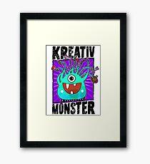 Creative Monster - Crazy Craft Fan Framed Print
