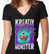 Creative Monster - Crazy Craft Fan Women's Fitted V-Neck T-Shirt
