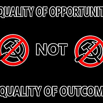 Equality of Opportunity Not Equality Of Outcome (Outlined) by RebarForOwt