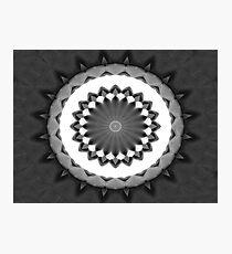 Gray Kaleidoscope Art 31 Photographic Print