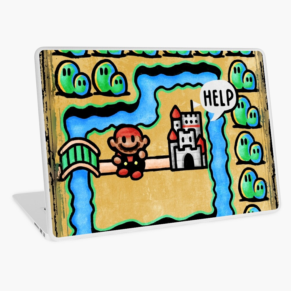 Super Mario 3 Level 1 Laptop Skin