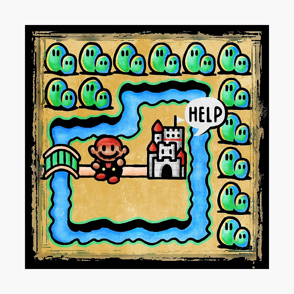 Super Mario 3 Level 1 Photographic Print