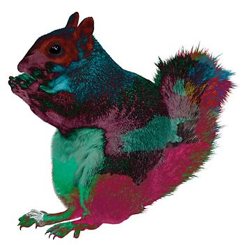 Rainbow Squirrel by Tessolate