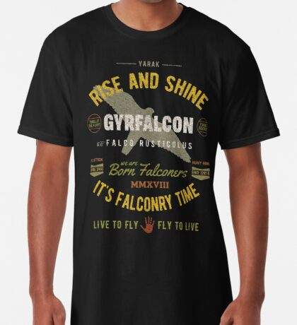 Gyrfalcon Falconry for Falconers Who Fly Gyrfalcons  Long T-Shirt