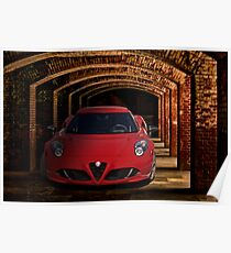 2018 Alfa Romeo 4C Sports Coupe I Poster