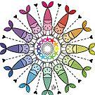 «Gatos rueda de color» de Adri-Ana-Art
