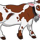 Netter Kuh-Aufkleber von clelkin
