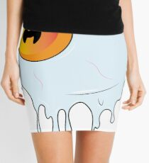 Melted Orange Eyeball Mini Skirt