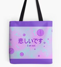 I am sad - Pill Party Menhera Tote Bag