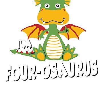 Dinosaur Birthday; Im FOUR-OSAURUS by clintoss