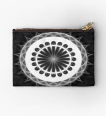 Gray Kaleidoscope Art 32 Studio Pouch