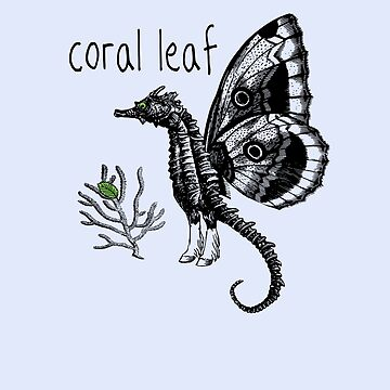 Coral Leaf Seahorse Butterfly by 2catminimum