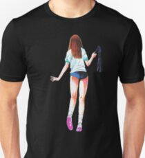 Schoolgirl with a Whip Japanese Manga Unisex T-Shirt