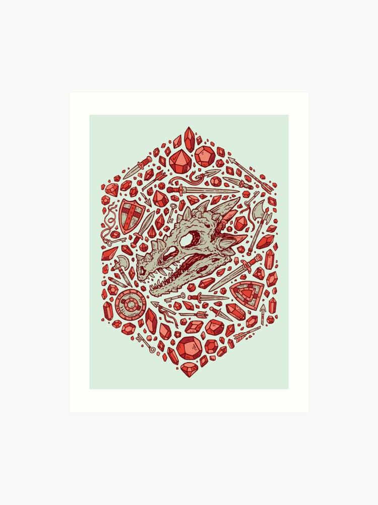 Hoard of the Gem Dragon | Ruby | Art Print