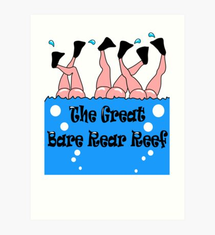 Bare Rear Reef  Art Print
