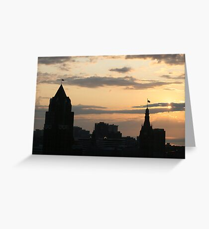 Morning Skyline Greeting Card