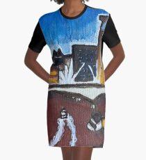 Brisbane River - A Cityscape Graphic T-Shirt Dress