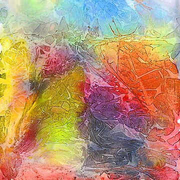 Watercolor multicolored texture, abstract paint stains, crumpled paper, wrinkles  by EkaterinaP