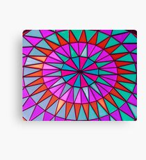 Bright and Colorful Stained Glass Window Mandala for Peace and Happiness Canvas Print