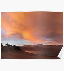 Stormy and Cloudy Sunset View Poster