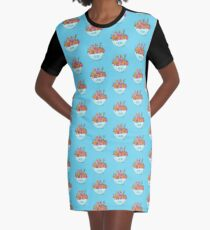 Ramen Fantasy Graphic T-Shirt Dress