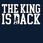 Conor McGregor The King is Back Typography & Silhouette Arts -Cool Gift Unisex MMA T-shirt Apparel & Merchandise by 888digitalarts