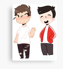 Dan and phil Interactive Introverts Canvas Print