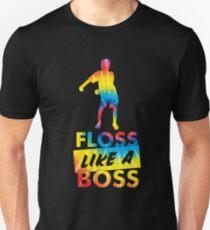 Tie Dye Floss wie ein Boss - Flossing Dance Slim Fit T-Shirt