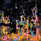 Stars - Acrylic Abstract Painting on canvas by Minxi by Kari Sutyla