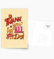 Thank you! Postcards