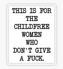 CHILDFREE WOMEN Transparent Sticker