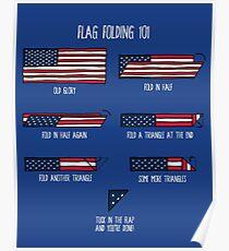 Flag Folding 101 Poster