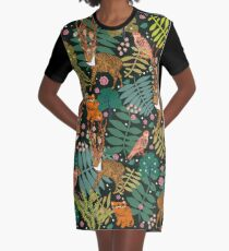 Deer Forest Graphic T-Shirt Dress