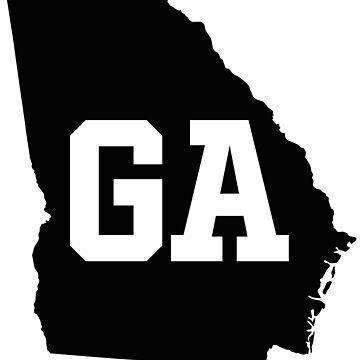 Georgia aayState Map GA Abbreviation by Chocodole
