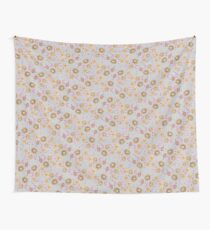 Boho Floral Bloom soft cream Wall Tapestry