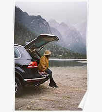 Chilling by the lake - Dolomites Collectiom Poster