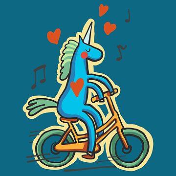 Unicorn on bike by rafo