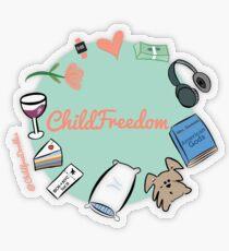 CHILDFREEDOM Transparent Sticker
