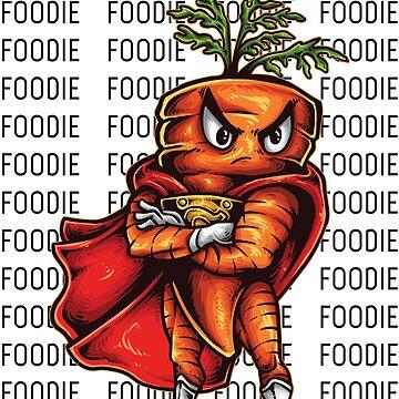 Angry Carrot Foodie Foodietoon Vegan Foodie Vegetarian Foodie by ProjectX23