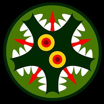 Lizard circle face by Gwendal