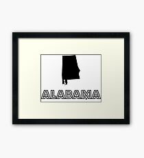 US States | Silhouette Series 01 |  ALABAMA Framed Print