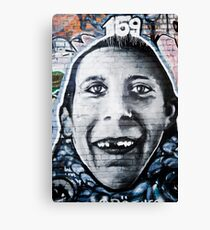 Graffiti Face of teethless boy Canvas Print